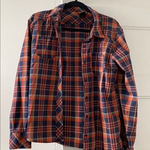 North Face Plaid Button Shirt